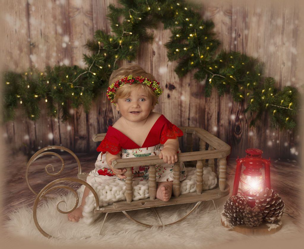 Sesión de fotos de navidad