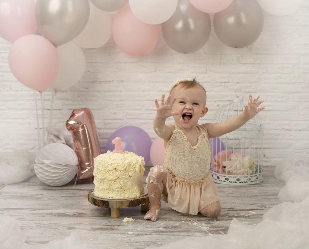 Sesión de fotos smash cake